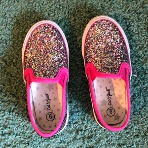 Cat & Jack Glitter Slides for Toddler Girls